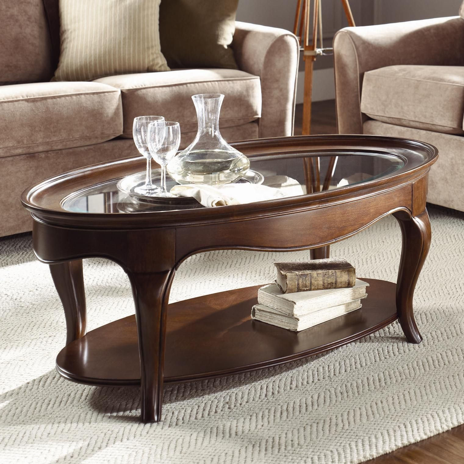 Cherry Grove Oval Cocktail Table by American Drew Ideas for the
