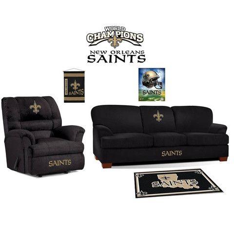 Wonderful New Orleans Saints Microfiber Furniture Set My Dream Living Room :)