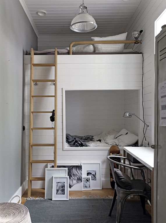 Cozy Loft Beds Bunk Beds Built In Small Room Bedroom Tiny House Bedroom