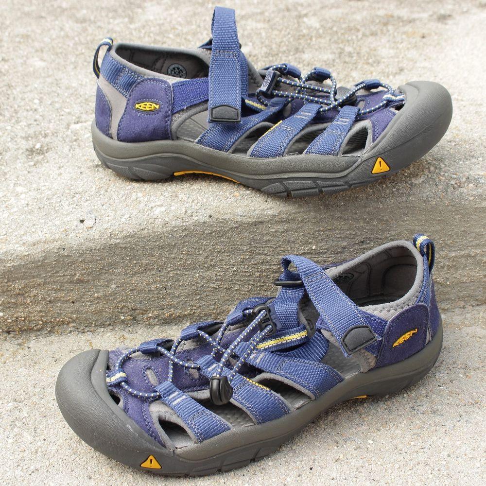 online store 47aae 84437 Keen Sandals Sz 6 Blue Yellow Grey Waterproof Foot Wear Trail Hiking Men   KEEN  SportSandals