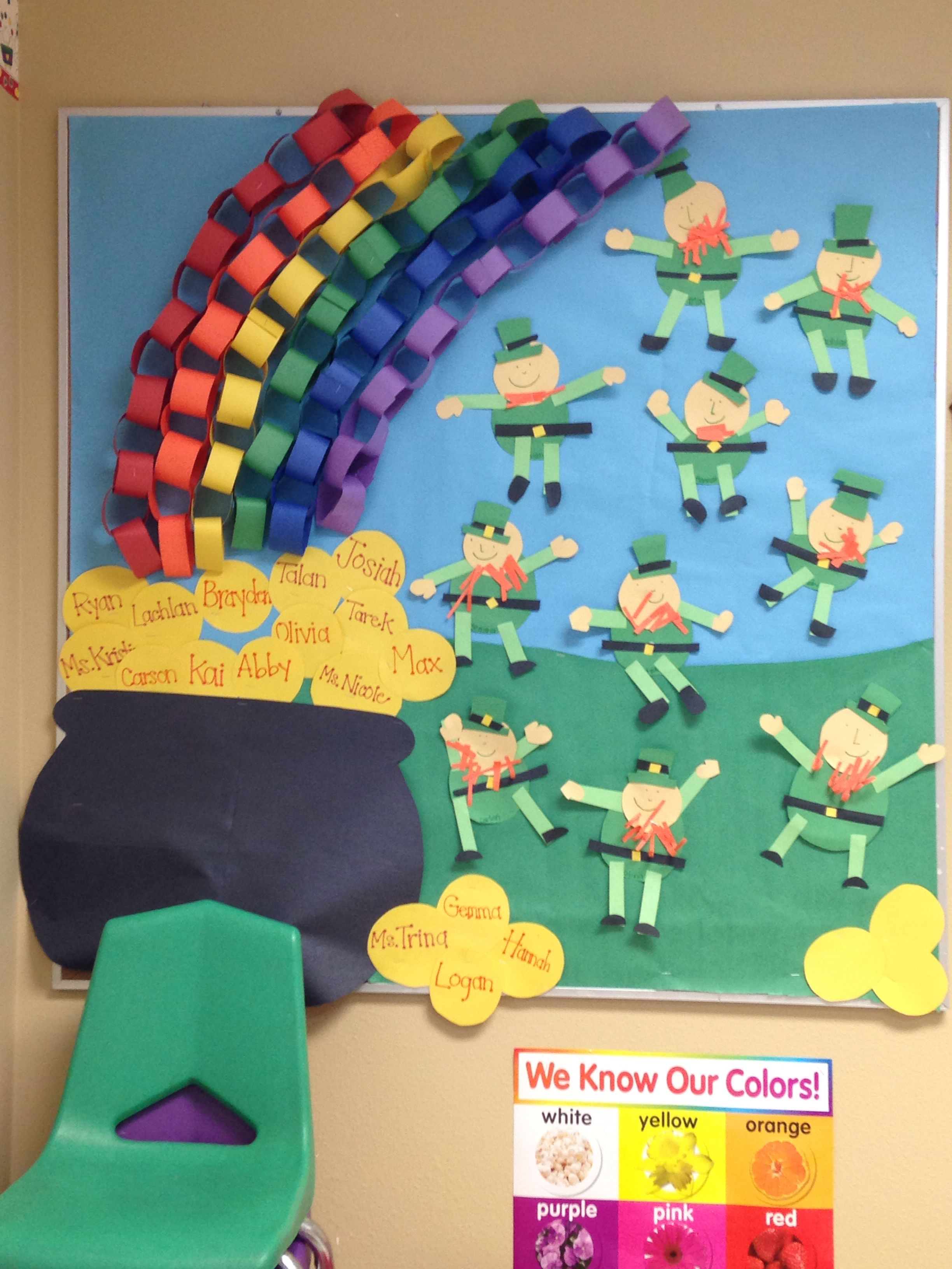 Saint Patricks Day Bulletin Board | St patricks crafts, St ...