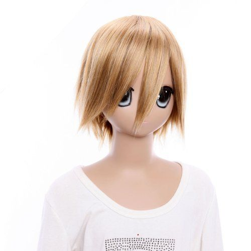 SureWells Nice wigs Blond Wig DuRaRaRa School Hot Style Short Cosplay Costume Wigs by SureWells. $22.79. Package:1 PCS. Length :about 13 inch. Material : High temperature wire. Color : AS PICTURE ,Color Shown: (Color may vary by monitor.). Hair Style: Cosplay Wigs. Brand: SureWells Recommended features: 1. Super natural wig , suitable for almost every lady aged from teenagers to adults. 2. With the high technology, Miss Beauty wig series are quite soft and smooth wit...