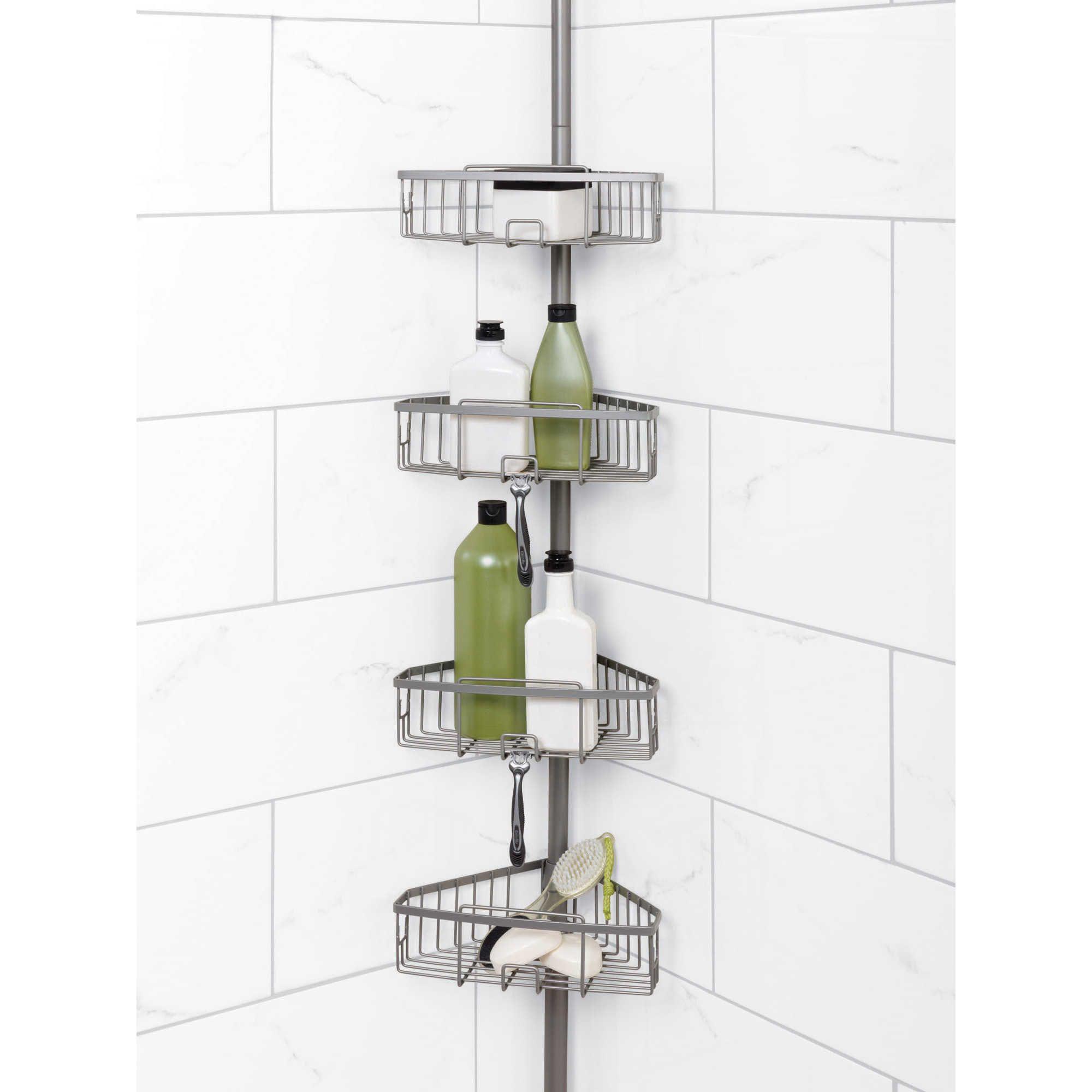Zenna Home Tension Corner Pole Shower Caddy Banos