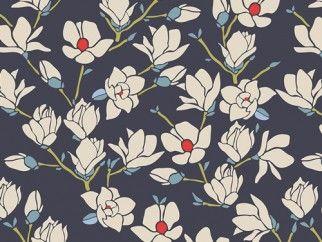 Art Gallery Fabrics Magnolia Nightfall Stretch Jersey Knit Dress Fabric | Fabric | Dress Fabrics | Minerva Crafts