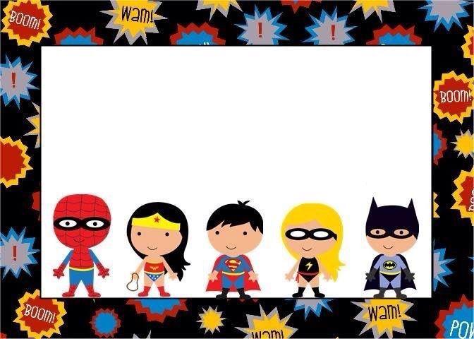 Invitación Súper Héroes Invitaciones Super Heroes