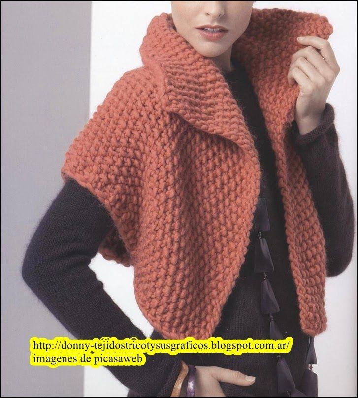 Lindos modelos tejidos a dos a agujas bolero muy moderno - Tejado a dos aguas ...