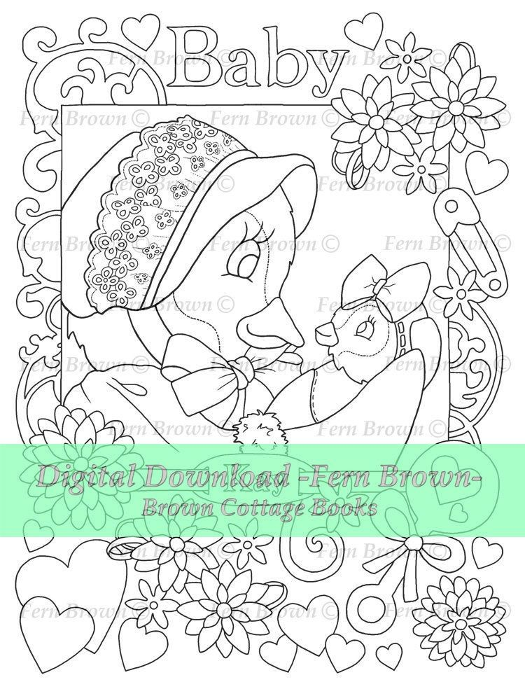 Penguin Adult Coloring Page Baby & Mama Penguins Printable