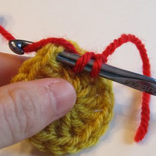 starting new row with a 'standing stitch'. yo, insert hook into any ch1 space and complete dc as normal (US terms)