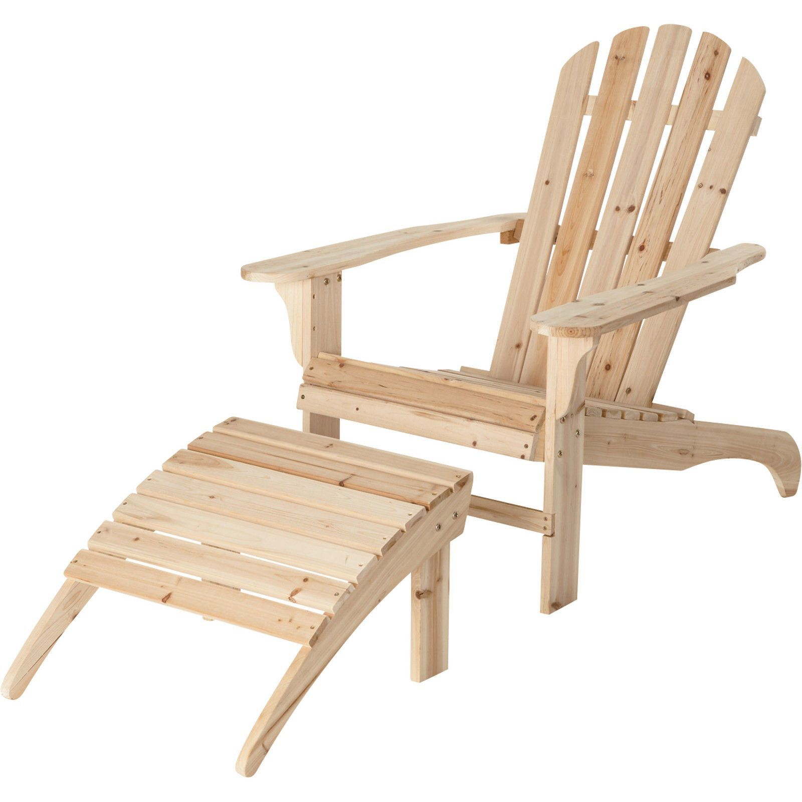 New Cedar Adirondack Chair Or W Ottoman Porch Stained Yard Ottoman Natural Patio Unfinished Wood Painted Resi Adirondack Chair Unfinished Wood Chairs Furniture