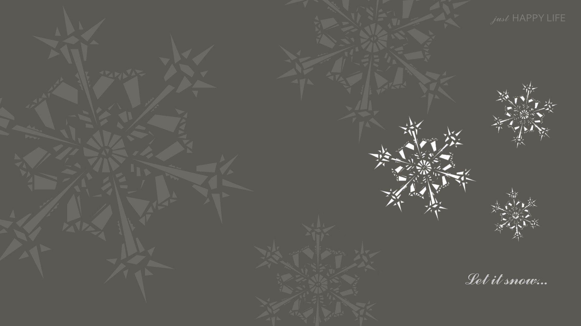Świąteczna tapeta na pulpit- ŚNIEG.