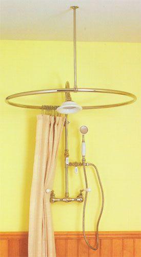 Polished Nickel Round Shower Curtain Ring | Rub a dub dub ...