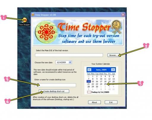 Use time stopper to use trial version software with life time validity
