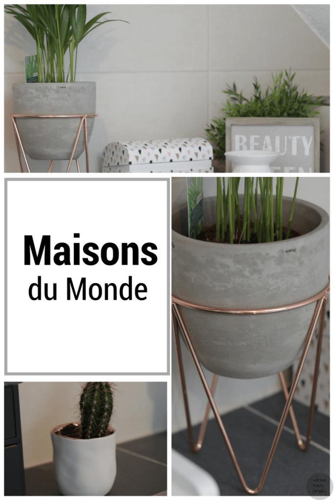 maisons du monde beton blumentopf rosegold home inspiration diy pinterest bad. Black Bedroom Furniture Sets. Home Design Ideas