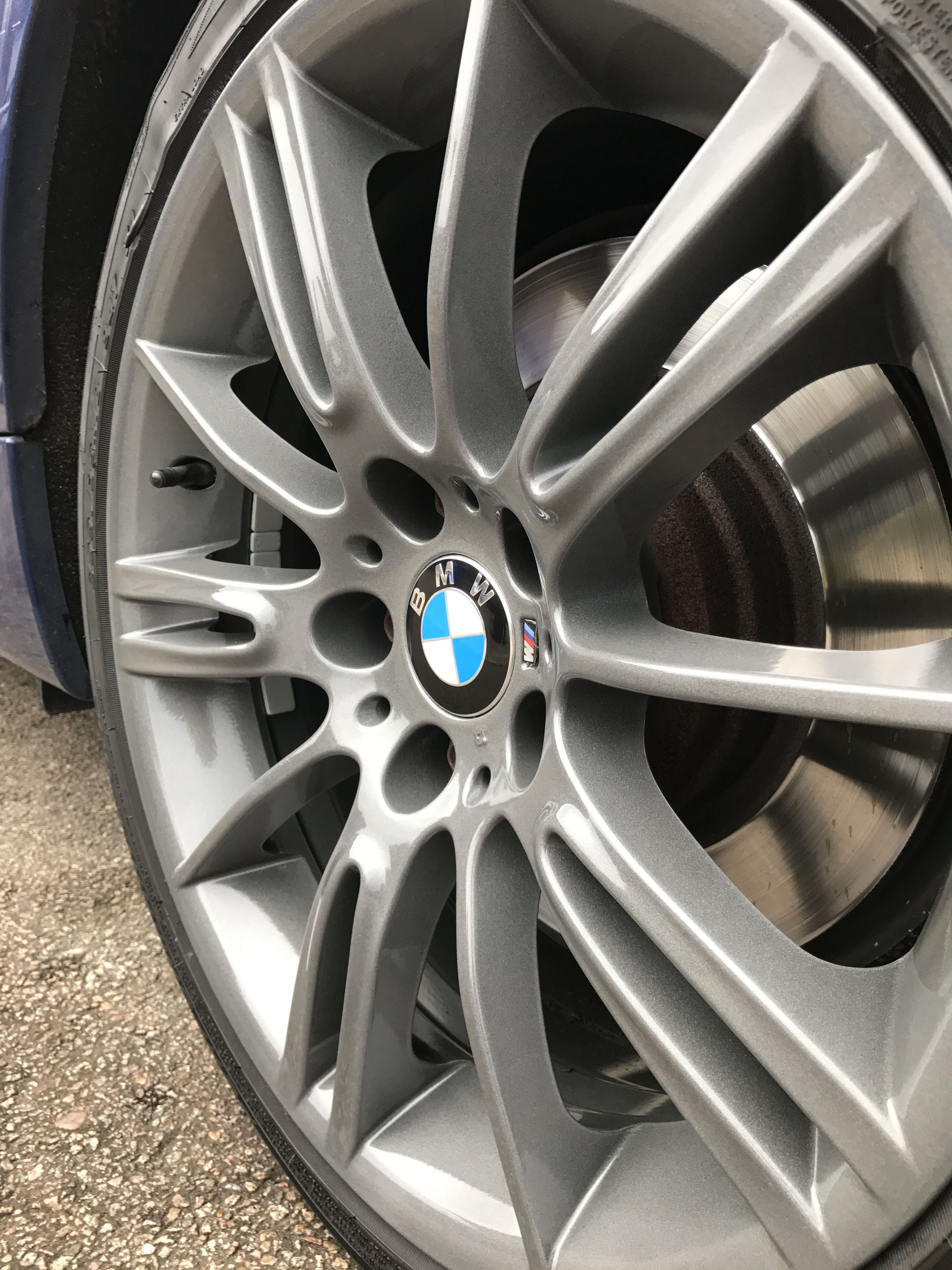Bmw 330d M Sport Alloys We Refurbished And Powder Coated German