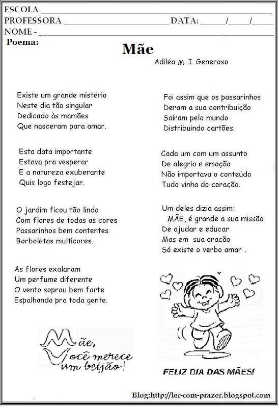 Poema E Poesias Dia Das Maes