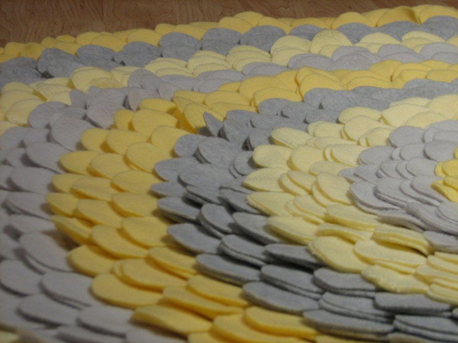 Gray And Yellow Nursery Rug The BELLANOTTE. $97.00, Via Etsy.
