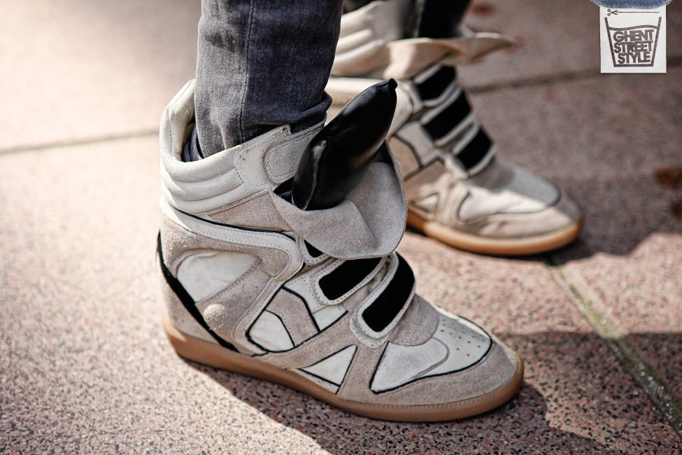 Sneakers Isabel Marant on Ghentstreetstyle
