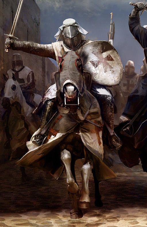 Knights on Horses by Mariusz Kozik | Knights Templar