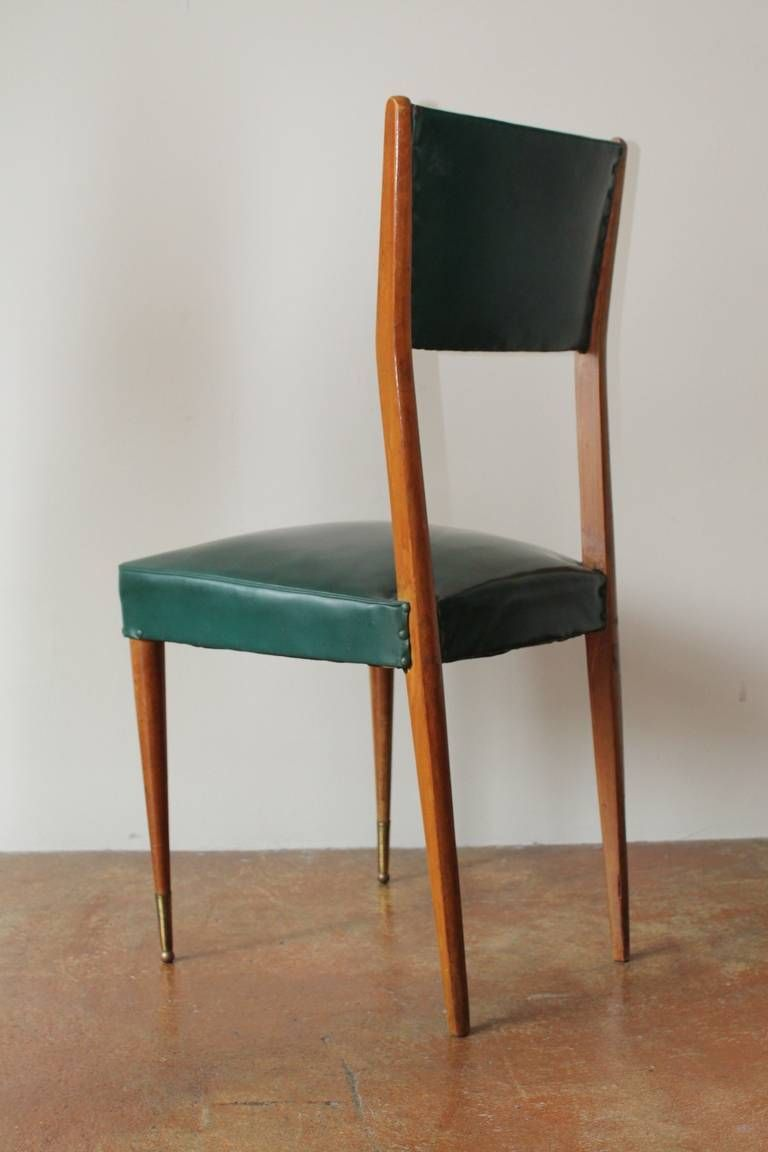 six italian brass dining chairs in style of willy rizzo dining