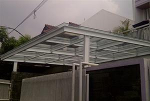 Canopy Baja Ringan Di Jakarta Kanopi Wf Atap Kaca Dari Konstruksi