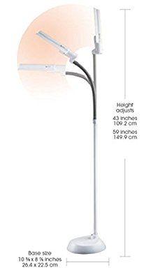 Ottlite L23008 Ffp 13w Wing Shade Floor Lamp Floor Lamp Lamp Flooring
