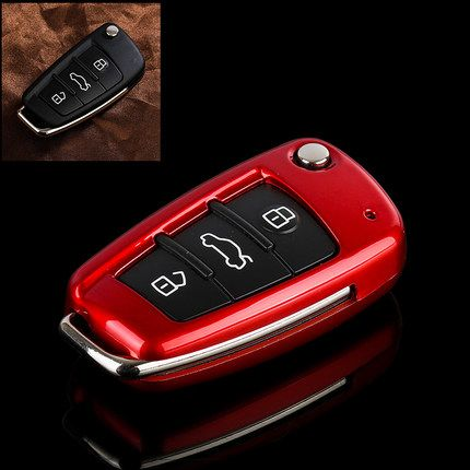 Hoge kwaliteit Nieuwe ABS materiaal Producten Auto GEEN smart Folding key cover audi a3 8 P 8 V a4 B7 B8 a6 C6 a8 tt q7 Q3 Q5 s6 s3 s4
