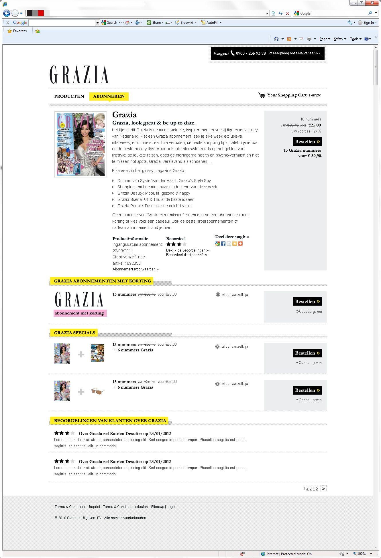 Grazia webshop