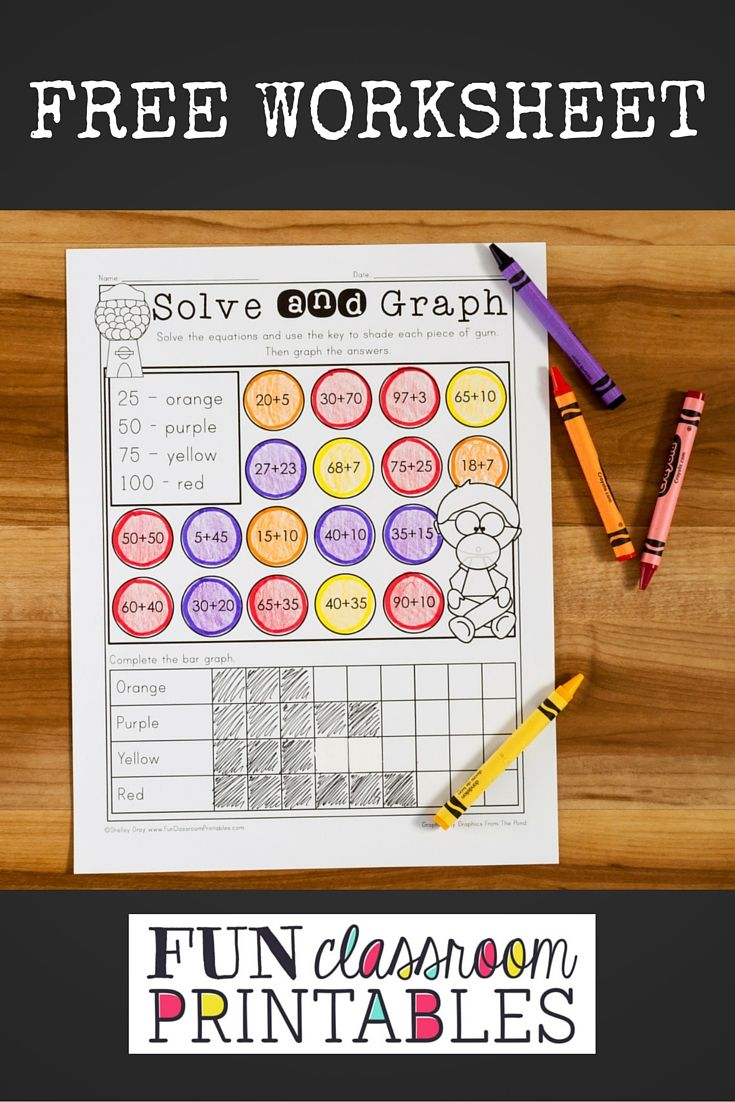 Free Solve And Graph Activity For Addition Within 100 Math Worksheets Worksheets Graphing [ 1102 x 735 Pixel ]