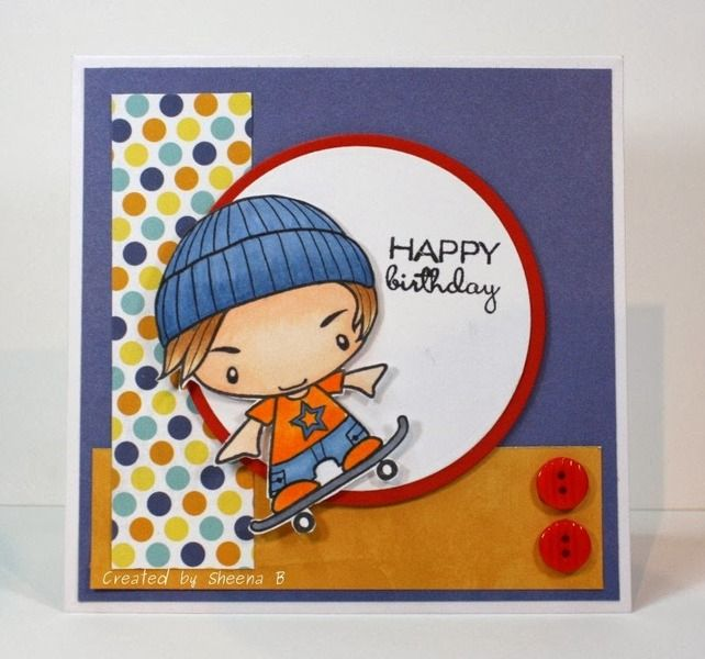 Happy Birthday Skater Ian by Kanatanewf - Cards and Paper Crafts at Splitcoaststampers