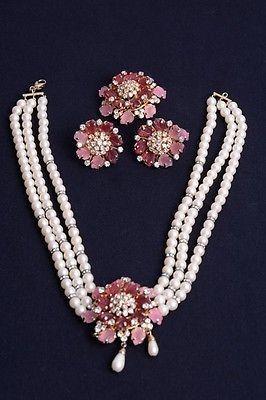 Authentic Vintage Christian Dior Jewellery 3 Piece Set