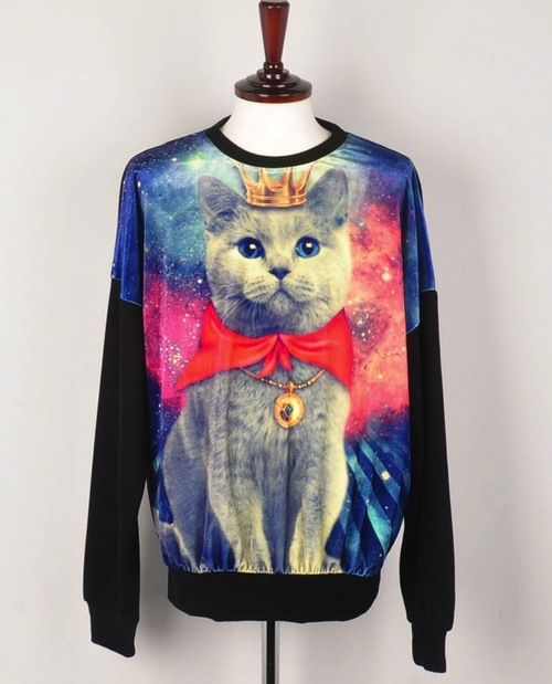 Hahah Creepy But I Want It Fashion Sweaters Shirts Cat