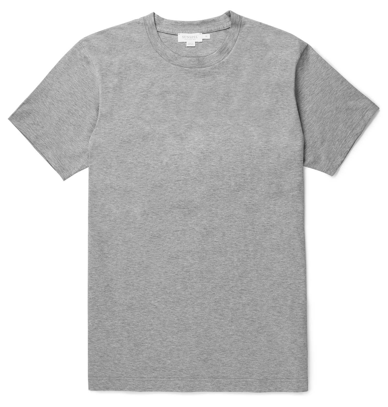 782c4069 Men's Cotton Riviera T-Shirt in Grey Melange   Sunspel   I Could ...