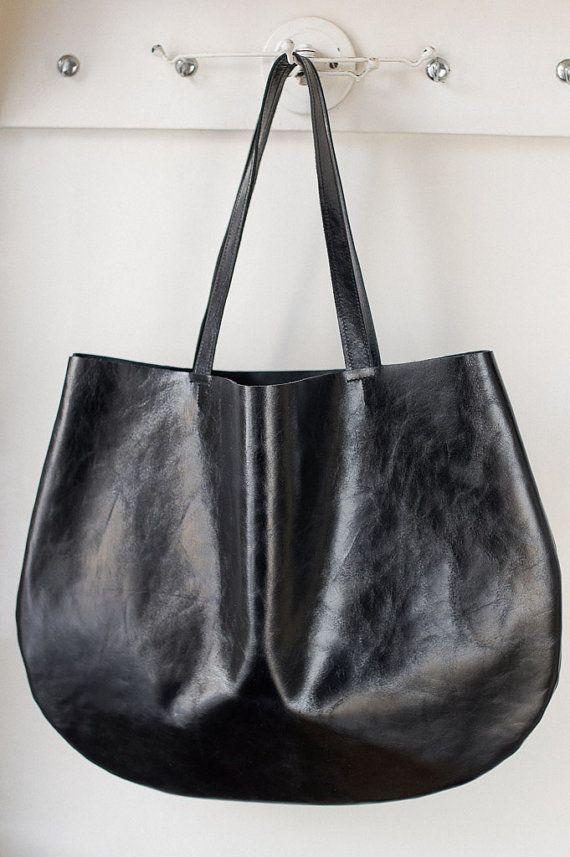 Black hobo bag every day hobo bag by PatkasBerlin on Etsy