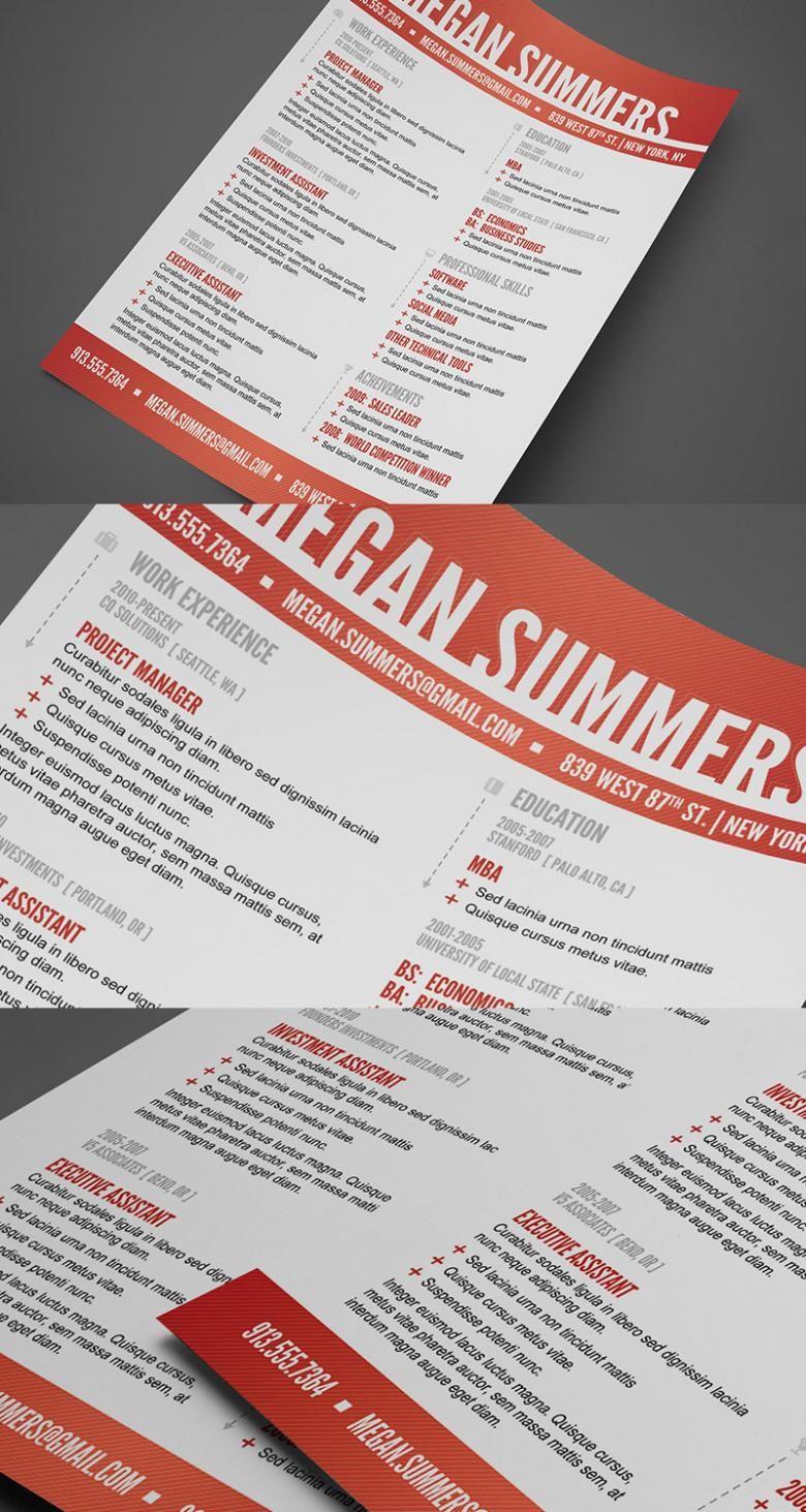 Free Modern SwissStyle Resume Template  Free Print Templates