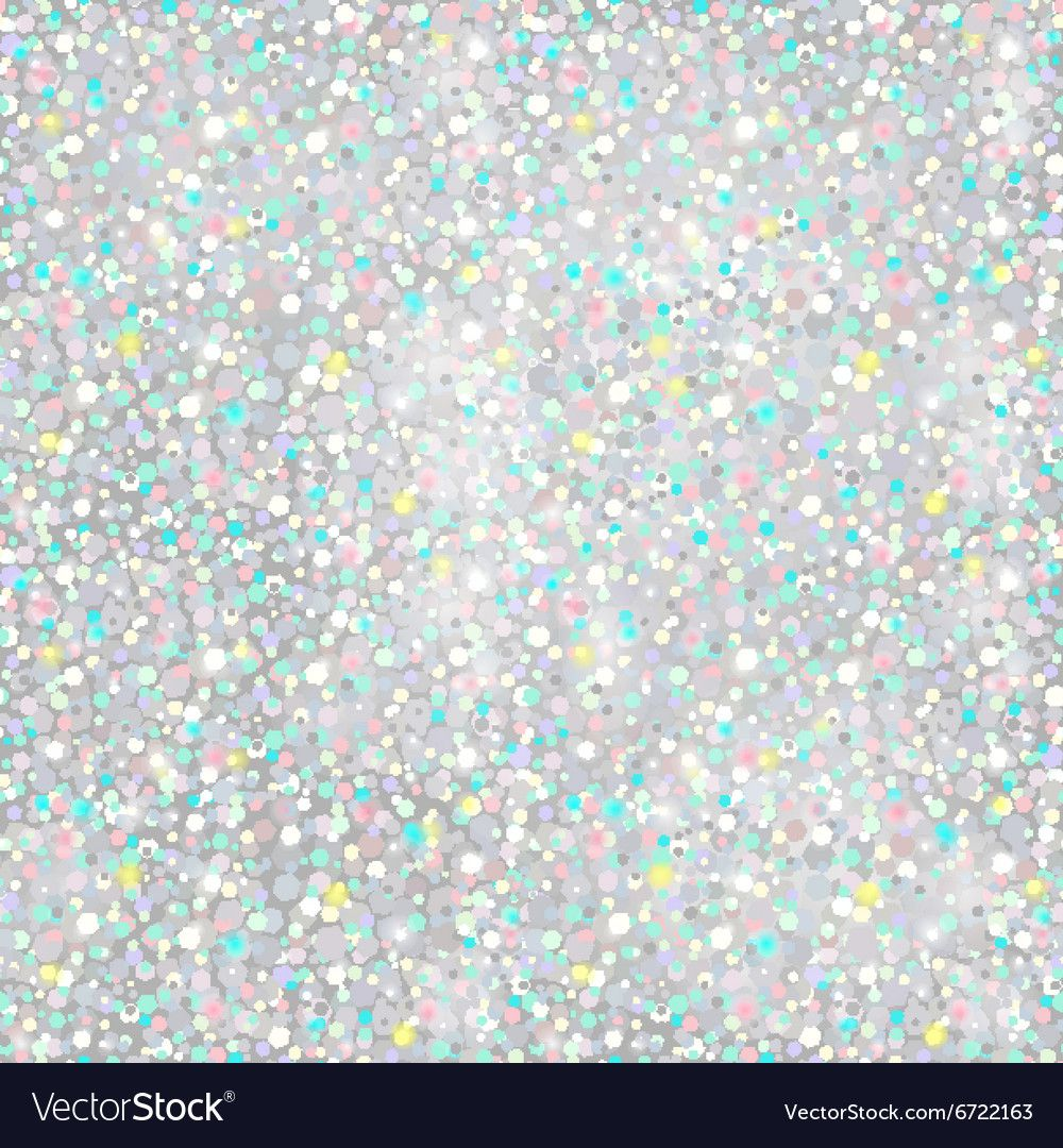 Silver Glitter Background seamless texture vector image
