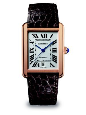 2bf6bd45 Cartier - Tank Anglaise 18K Rose Gold & Alligator Small Strap Watch -  Saks.com