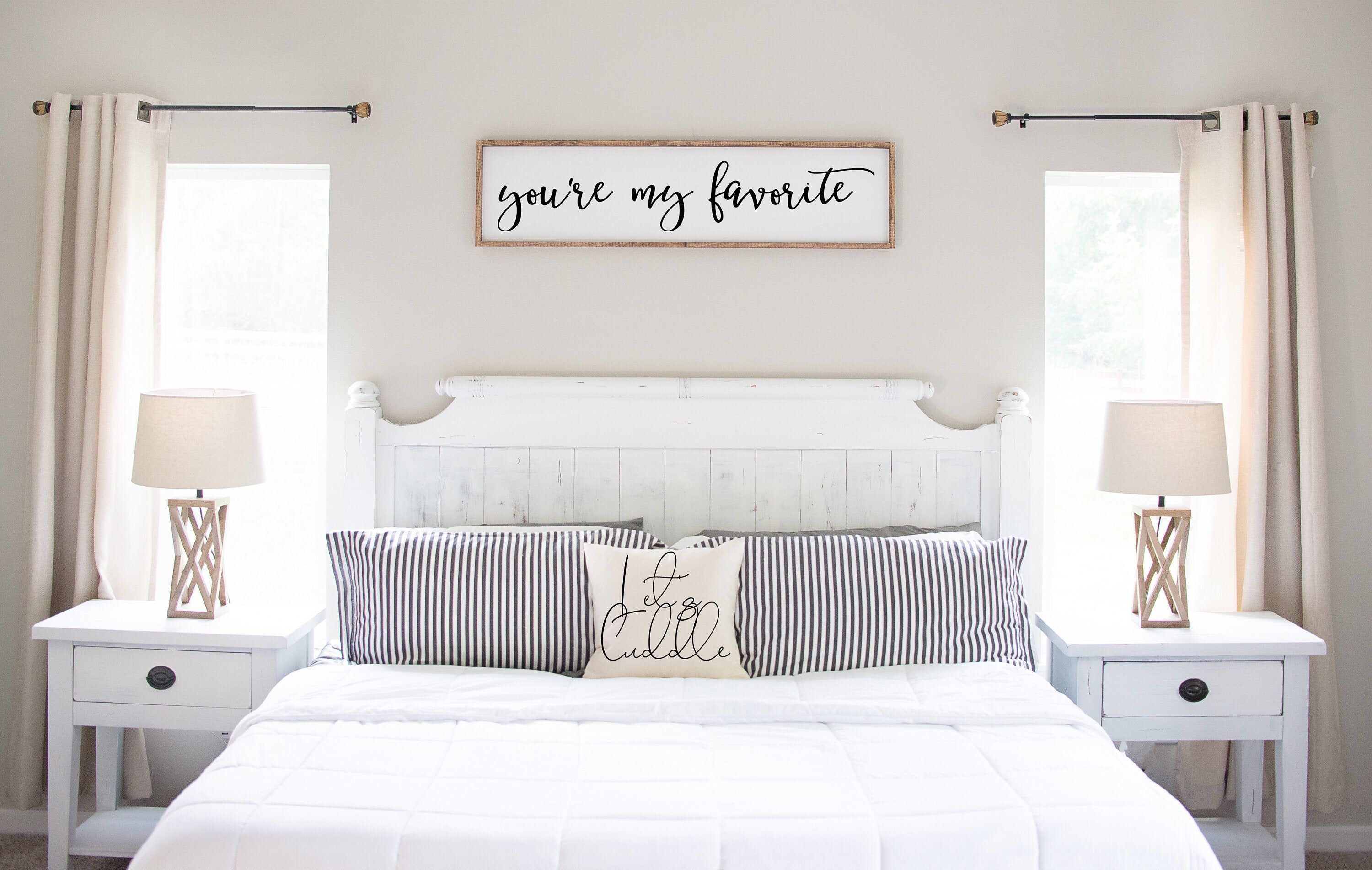 You're my favorite Master Bedroom Sign Wood Signs