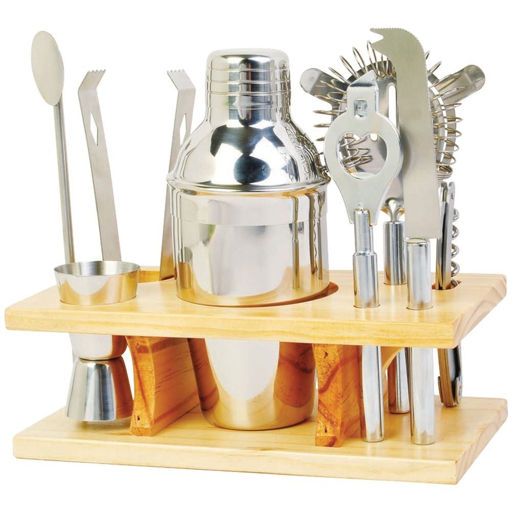 Home Bar Accessories: Stainless Steel Drink Mixer Set Cocktail Bar Accessories
