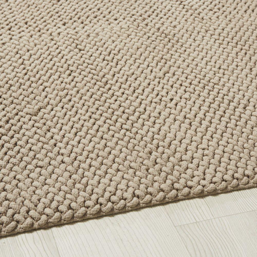 Tappeto in cotone intrecciato beige, 140x200 cm Tappeti
