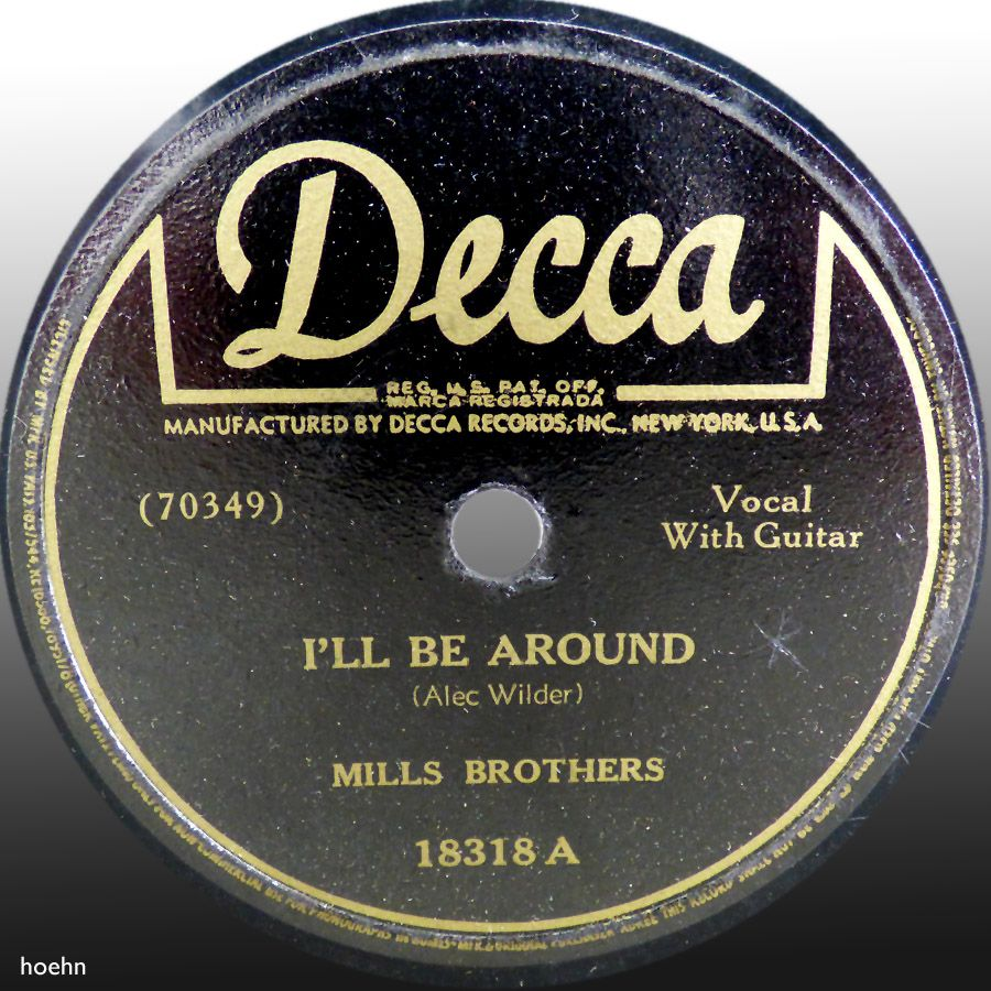 78 rpm record label