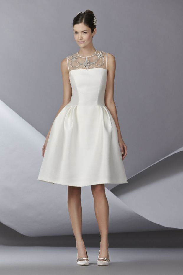 Top Wedding Dress Trends for 2014 Chic and Short - Carolina Herrera 2014 Collection http://chicvintagebrides.com/index.php/wedding-dresses/top-10-wedding-dress-trends-2014/