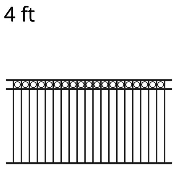 Iron Fence Panel 48 X 94 Denali Iron Fence Panels Wrought Iron Fence Panels Iron Fence