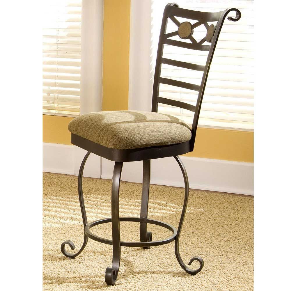 Counter Stool With Swivel Seat Stone Forge By Riverside