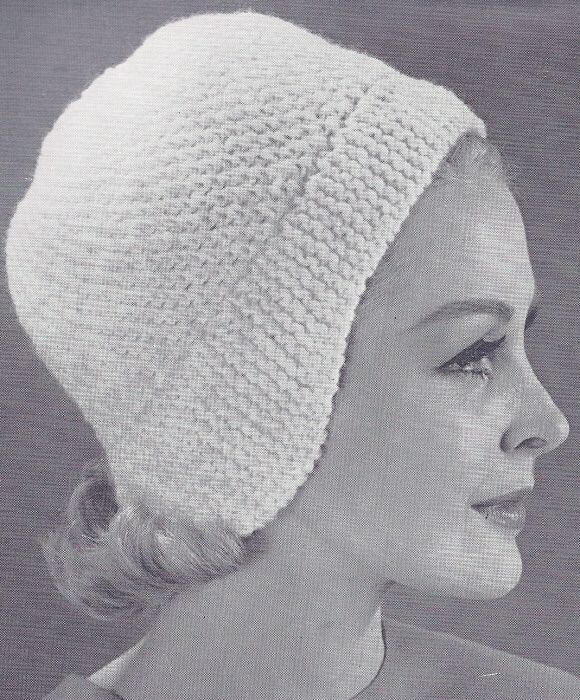 Vintage Cloche Helmet Hat Knitting & Crochet Pattern | Knitting ...