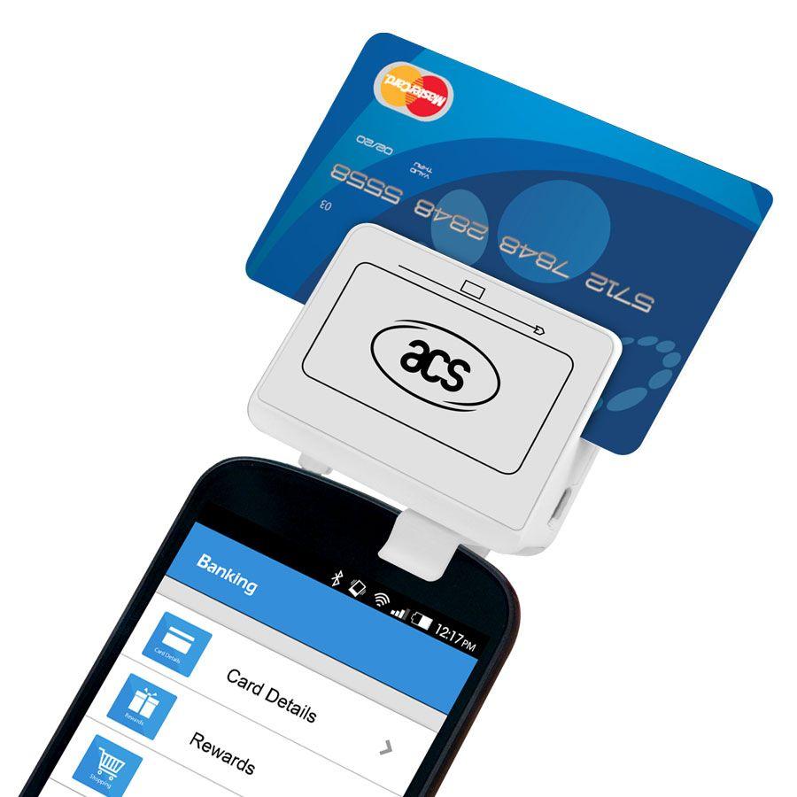 Acr32 mobilemate audio jack smart card mag stripe reader