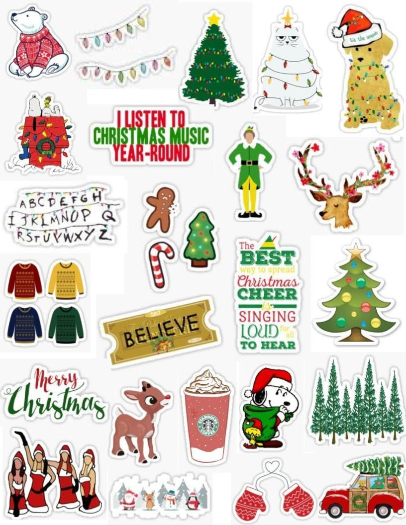 Christmas Stickers.Pin On Sticker Packs