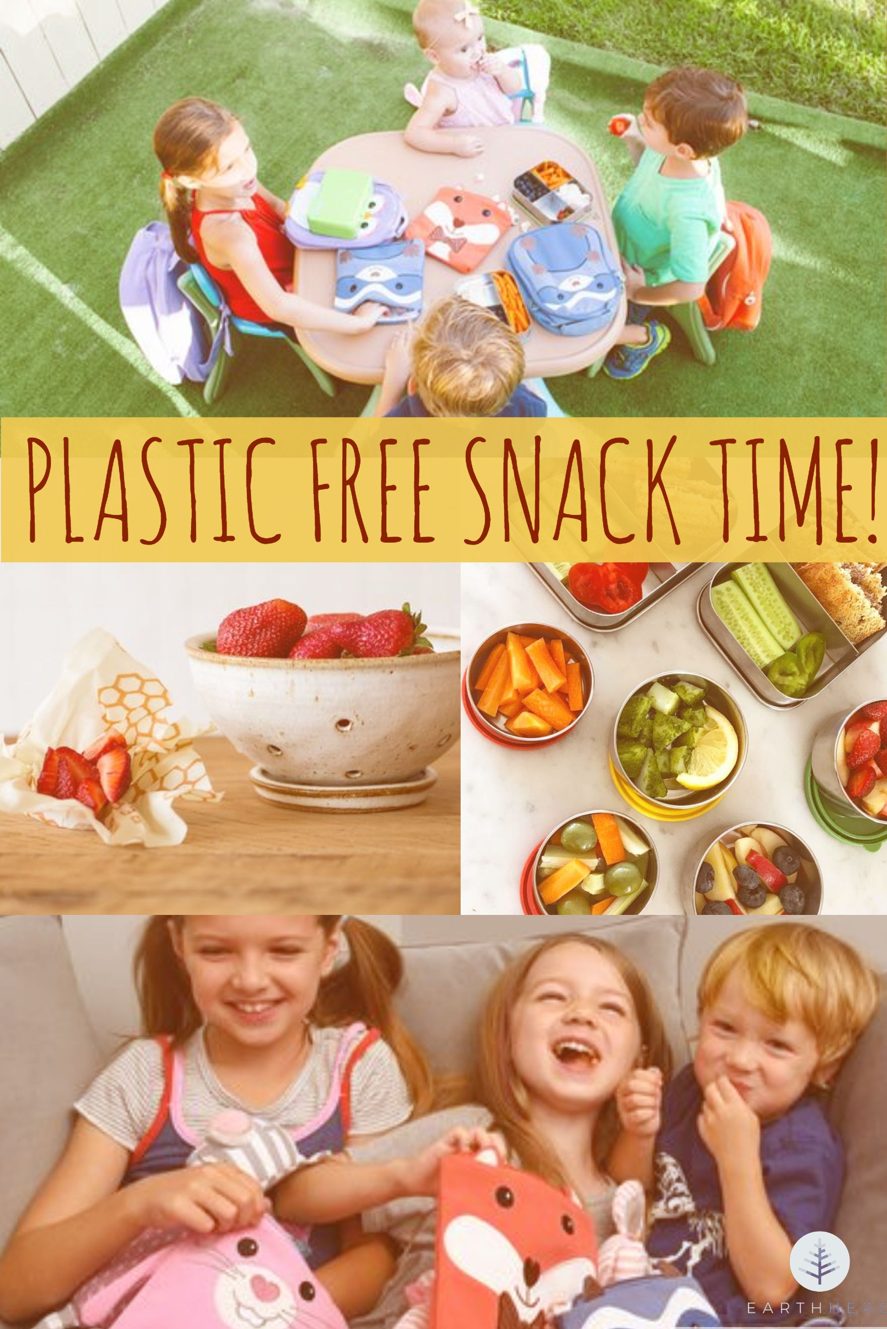 After school or after camp snacks, make them all plastic