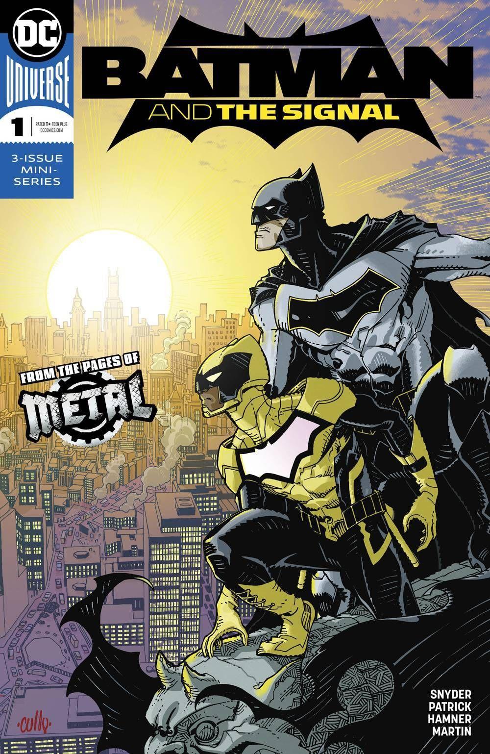 Capa de Batman and the Signal #1 por Cully Hamner. Minissérie sairá encadernada pela Panini.