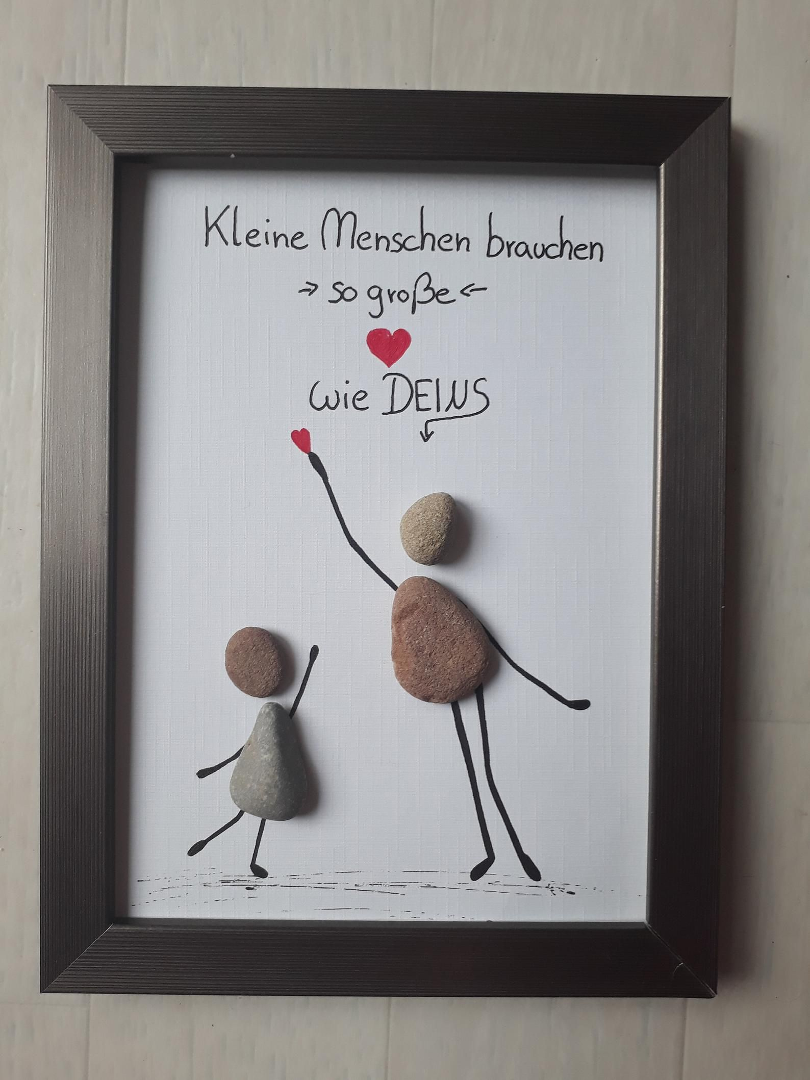 Farewell Kindergarten educator Thank you gift stone picture