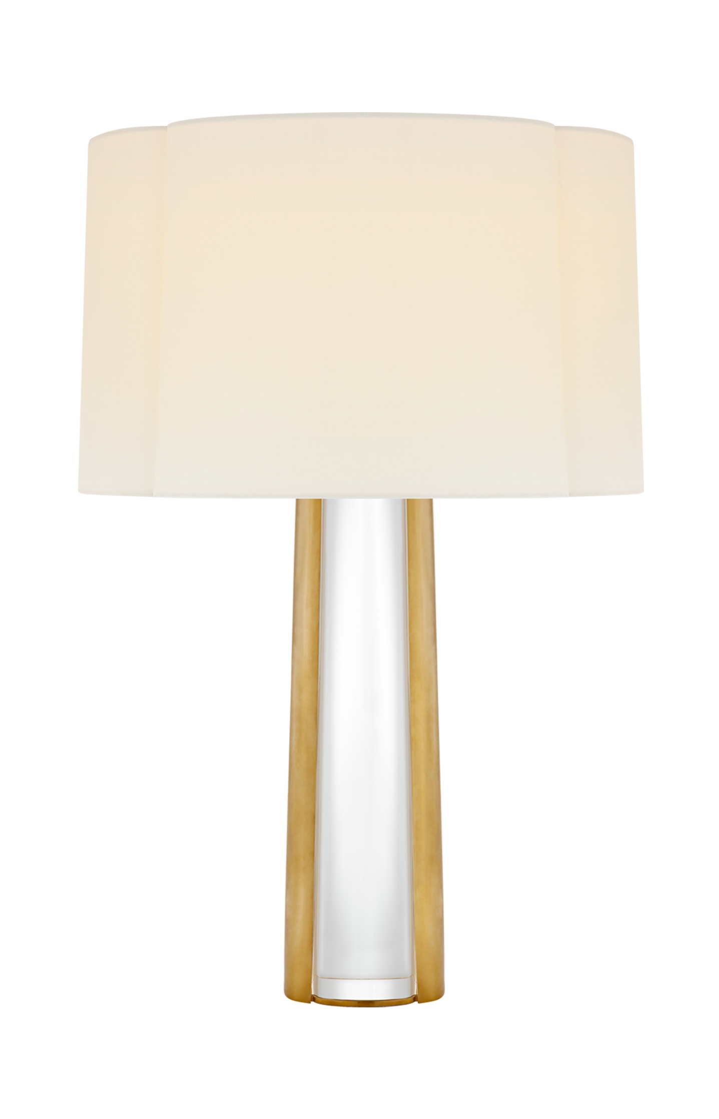 Thoreau Medium Table Lamp Lamp Table Lamp Linen Shades Crystal and brass table lamps